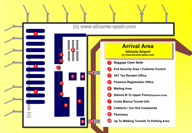 flight departures alicante aiport spain: