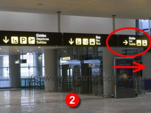 Direction To Rental Car Companies At Alicante Airport Car Hire Area