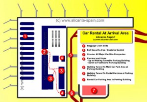 Car Rental At Alicante Airport Arrival Area
