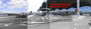 Drop zone outside Alicante airport departure level