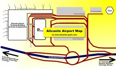 Alicante Airport Map