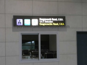 Tax or VAT office at Alicante airport