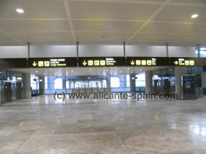 View at Arrival Area at Alicante Airport (No.2 on Arrival Area Map)