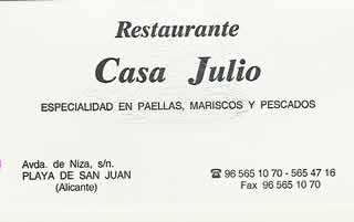 alicante restaurant card