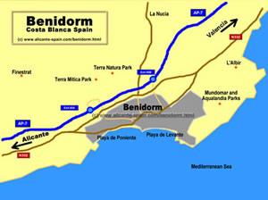 Benidorm Map