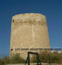 Tower along the beach of Calpe Costa Blanca