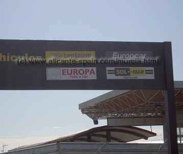 Different murcia car hire companies can be found at the airport