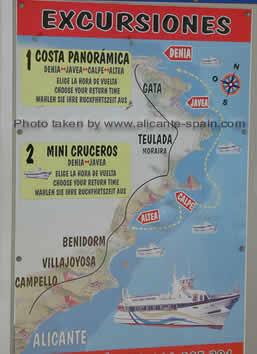Ship Cruises to Javea Calpe Altea