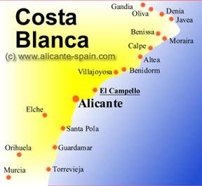 Map of El Campello