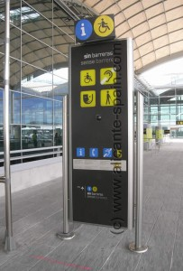 Help Point for Handicapped or People With Disabilities at Alicante Airport