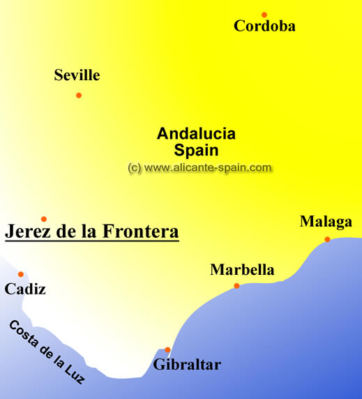 Jerez Spain Map