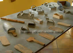 Molds at the turron museum in jijona Costa Blanca Spain