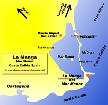 Карта на коста бланка аэропорт