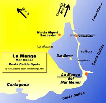 La Manga Map