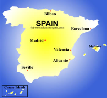 Important cities of spain