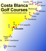 Golf Couses around the Costa Blanca