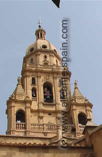 The cathedral of Murcia in Spain