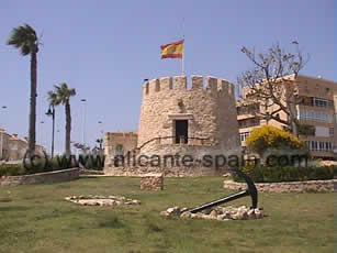 The Torre del Moro north of Torrevieja