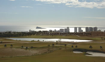 View from the Benidorm Golf Course to Playa Poniente