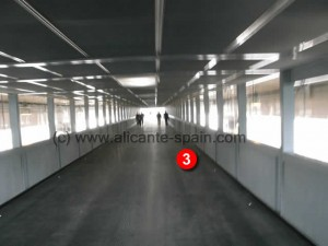 Walking tunnel from parking building to terminal building at Alicante airport